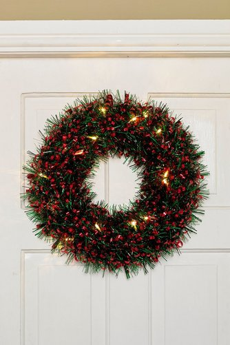 Image for LED Tinsel Wreath from ace