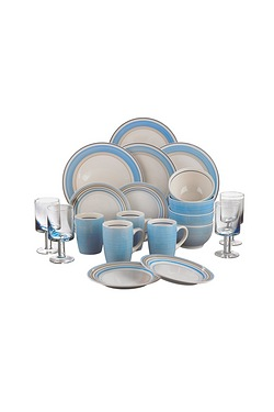 20-Piece Spin Wash Dinner Set Inclu...