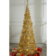 Champagne Lit & Decorated Pop-Up Tree