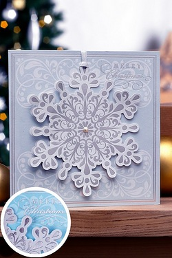 Pack Of 6 Handmade Snowflake Decora...