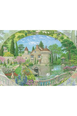 Old Castle Garden 1000-Piece Jigsaw