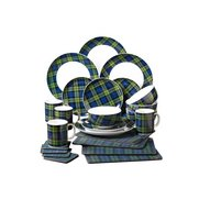24-Piece Tartan Dinner Set