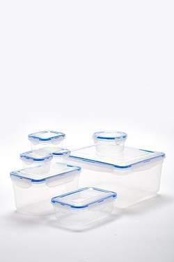 Set Of 7 Clip Lid Containers