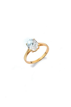 9ct Large Oval Cubic Zirconia Ring