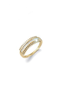 9ct Cubic Zirconia Track Ring