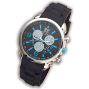 Crosshatch Blue Chrono Watch