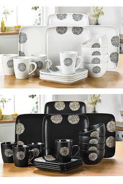 16+16 Piece Chrysanthemum Dinner Set