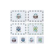 Set Of 4 Owl Placemats And FREE Coa...
