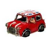 Cool Red Mini With Union Flag On Roof