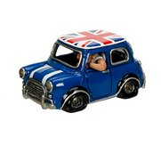 Cool Blue Mini With Union Flag On Roof