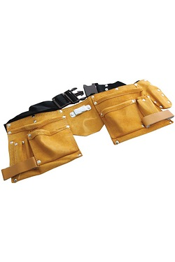 11 Pocket Leather Tool Belt