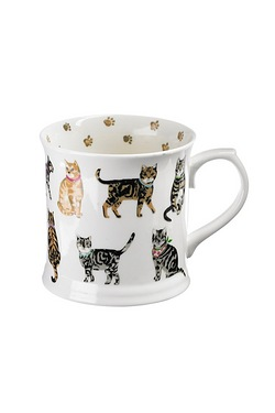 Fine Bone China Mug - Cat