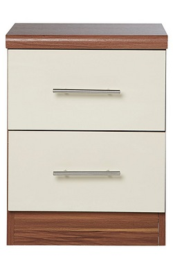 Melbourne 2 Drawer Bedside Cabinet