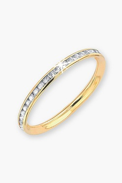 9ct Gold Pave CZ Eternity Ring