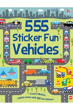 555 Sticker Fun-Vehicles