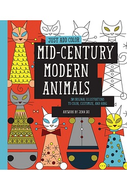Just Add Colour-Mid Century MOD. Animals