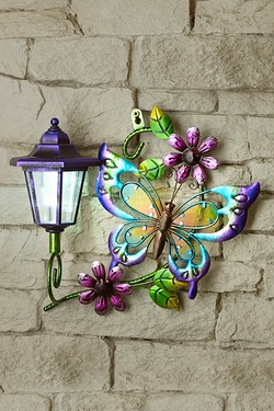 Solar Wall Plaque - Butterfly