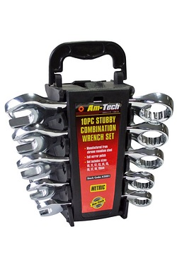 Am-Tech 10-Piece Stubby Wrench Set