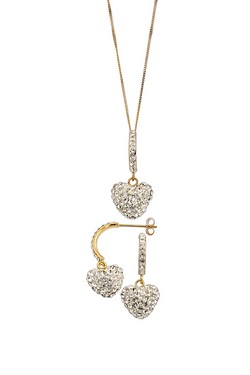 9ct Gold With Crystal Set