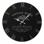 Vintage Home Wall Clock Black Edition