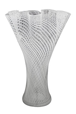 Pleated Top Glass Vase