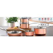 5-Piece Copper Coated Pan Set