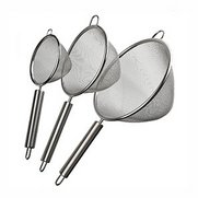 Set Of 3 Stainless Steel Strainers