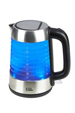 EGL Stainless Steel Glass Jug Kettle