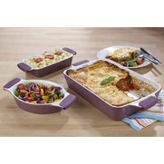 Giant Purple Lasagne Dish With 2 FR...