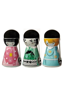 Set Of 3 Doll Canisters