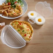 Microwave Egg Poacher & Omelette Set
