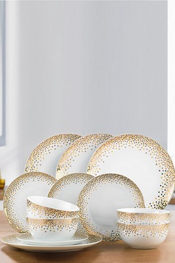 12-Piece Gold Spot Dinner Set