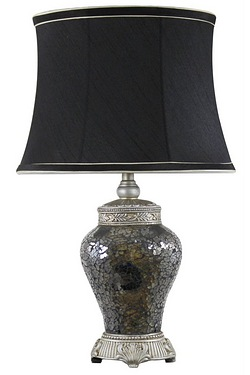 Antique Silver Sparkle Mosaic Lamp