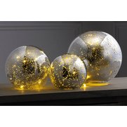 Set Of 3 Glass Balls