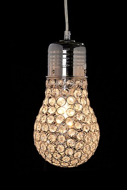 Eve Bulb Look Crystal Pendant