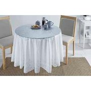 White Lace Vinyl Tablecloth