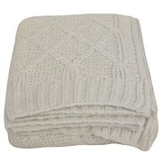 Wool Diamond Cream Throw