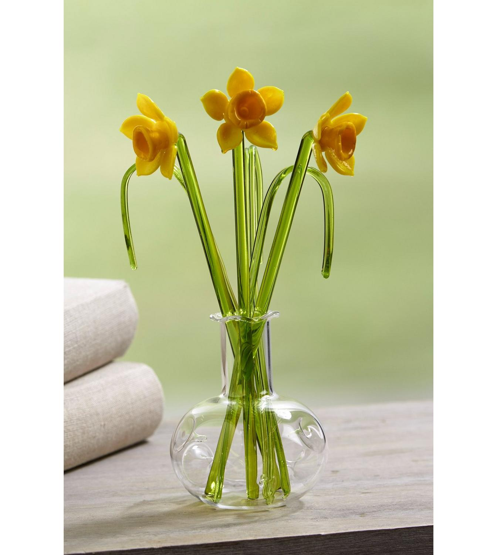 Glass daffodils flowers in vase studio image for glass daffodils flowers in vase from studio reviewsmspy