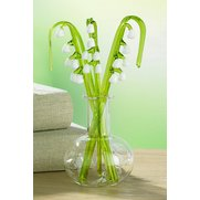 Glass Lily Of The Valley In Vase