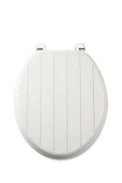 Tongue and Groove-Effect Toilet Seat