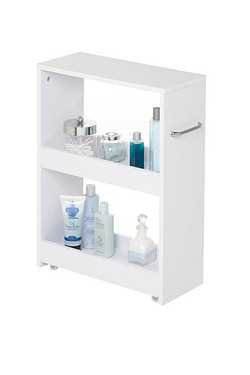 Slimline White Bathroom Storage Set