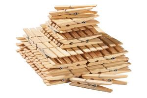 Image of 100 Wooden Clothes Pegs