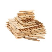 100 Wooden Clothes Pegs