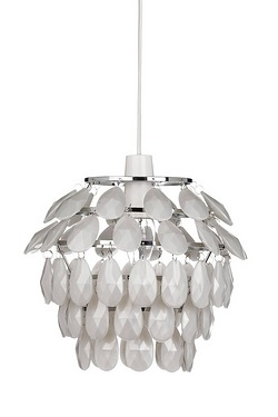 White Shell Ceiling Pendant Shade