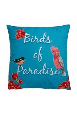 Birds Of Paradise Filled Cushion
