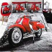 Red Scooter Duvet Set