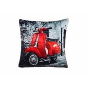 Red Scooter Cushion Cover