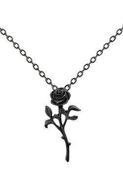 The Romance of The Black Rose Pendant