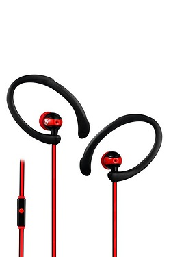 Volkano Sports Series Black/Red Ear...