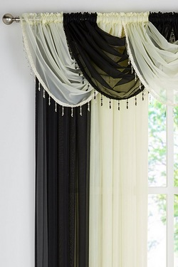 Beaded Voile Swags